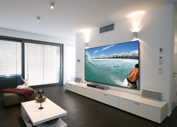 Home Theater Sala Cinema White Design