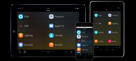 Controle automação celular e tablet iOS Android