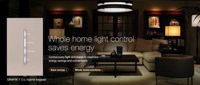 Sistema Lutron iluminação automatizada