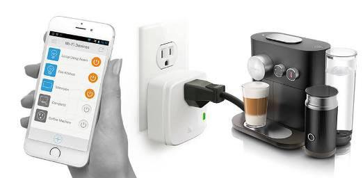Tomada inteligente automatizar máquina de café